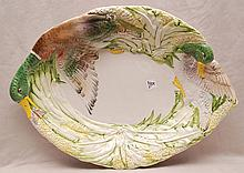 Vintage platter with Majolica glaze, highlighted by Mallard (20