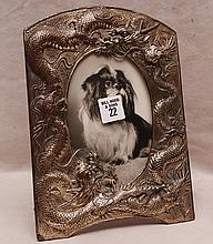 Chinese dragon frame, 9 1/2