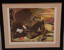Salvador Dali  (Spain 1904 - 1989) Lithograph, E.A. signed lower right,  18