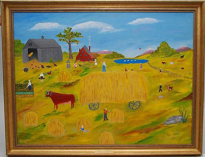 Rose Labrie (New Hampshire 1916 - 1986) oil on