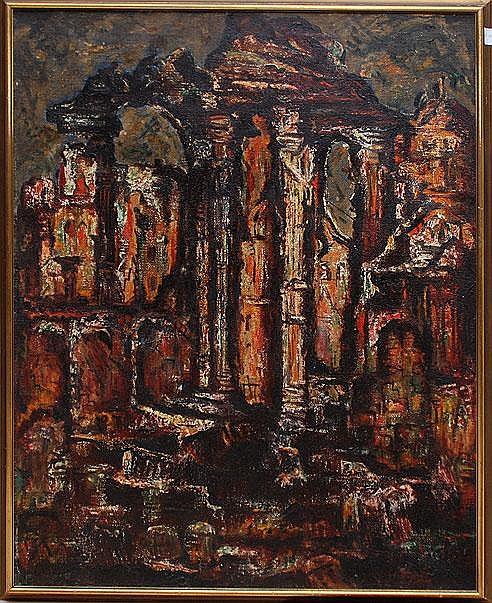 GEORGE HABERGRITZ (American 1909-1998). Oil/canvas