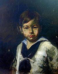 LOUIS BETTS (AMER. 1873-1961) OIL A charming oil