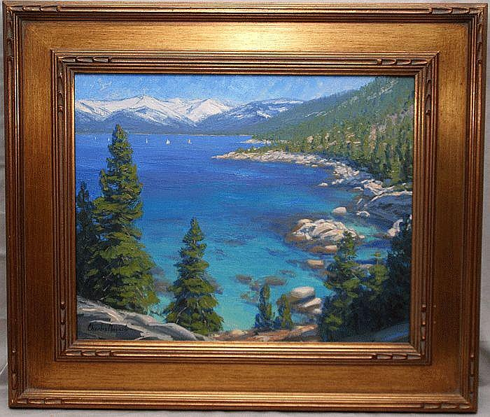 Charles Muench (California 20th cent) oil on