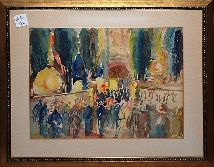 Francisco Arias (1911-1977) Spain, watercolor 12