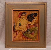 Arturo Piletti (ITALIAN, 20th Century) oil on