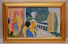 Ivon Hitchens (BRITISH, 1893-1979) oil on board,