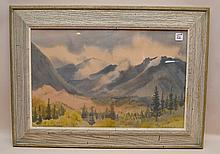 Adolf Arthur Dehn (AMERICAN, 1895-1968) watercolor on paper, Colorado Mountains, signed and dated Adolf Dehn '36 (lower right) 22