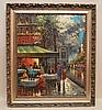 Henri Renard (France 19/20th century) oil on canvas, Paris Street Scene, 24