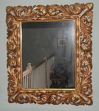 Giltwood carved Acanthus leaf frame mirror, 39