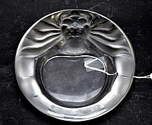 Lalique France Frosted Base Relief Crystal
