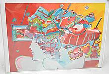 Two (2) Peter Max Pencil signed and numbered Lithographs, 30 x 40 inches