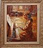 Edmund Yaghjian (1905-1997) oil on canvas, girl