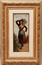Hans (Ronsard) Zatzka  (Austria 1859 - 1945) oil on panel,