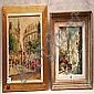 2 small oil on canvas paintings-French School 20th, Andre Franchet, Click for value