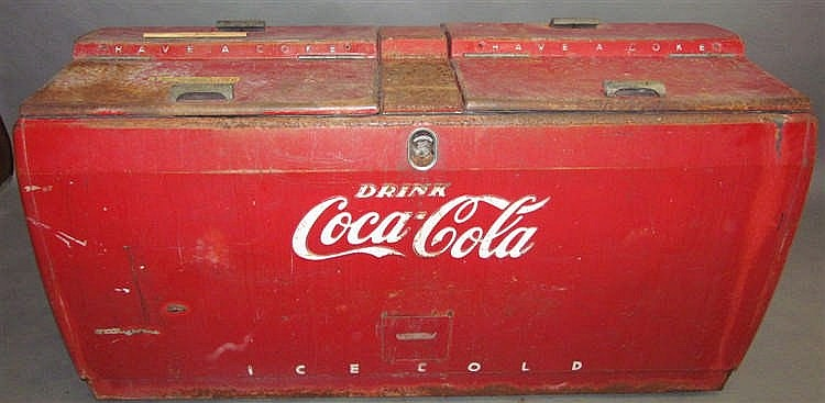 westinghouse coca cola chest cooler. Black Bedroom Furniture Sets. Home Design Ideas