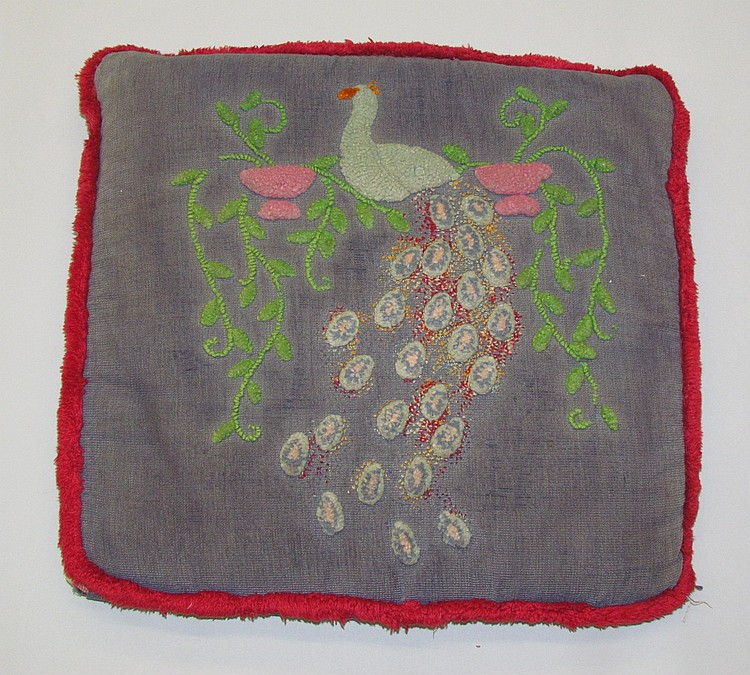 Amish embroidered cushion
