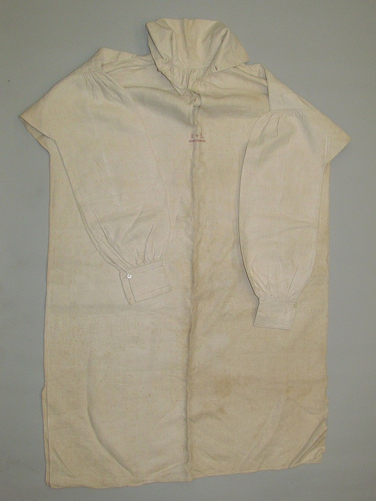 Rare homespun linen man's shirt