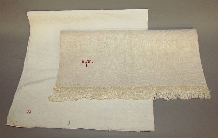 2 pieces of homespun linen