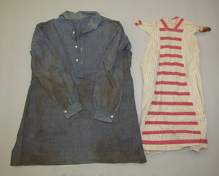 Rare PA German man's shirt & infant's dress