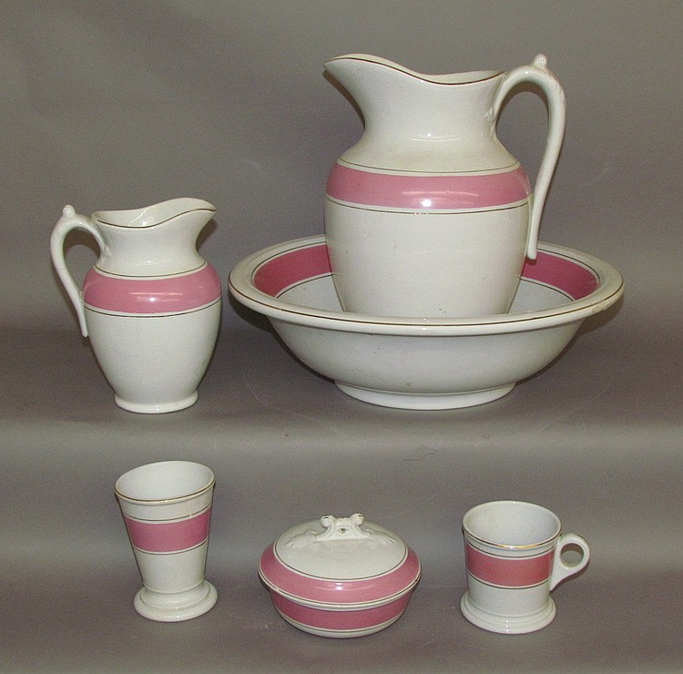 Wash bowl and pitcher set