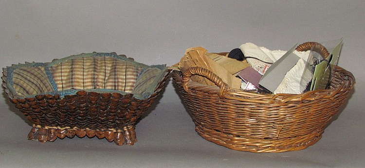 2 sewing baskets