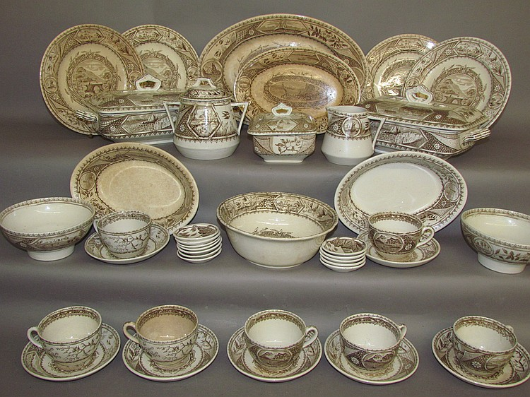 Set of dishes,