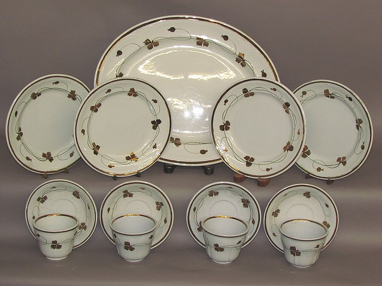 "Group of ""Tea Leaf"" ironstone"