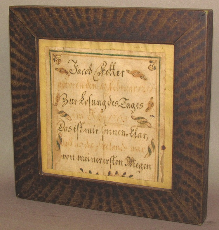 Fraktur birth record