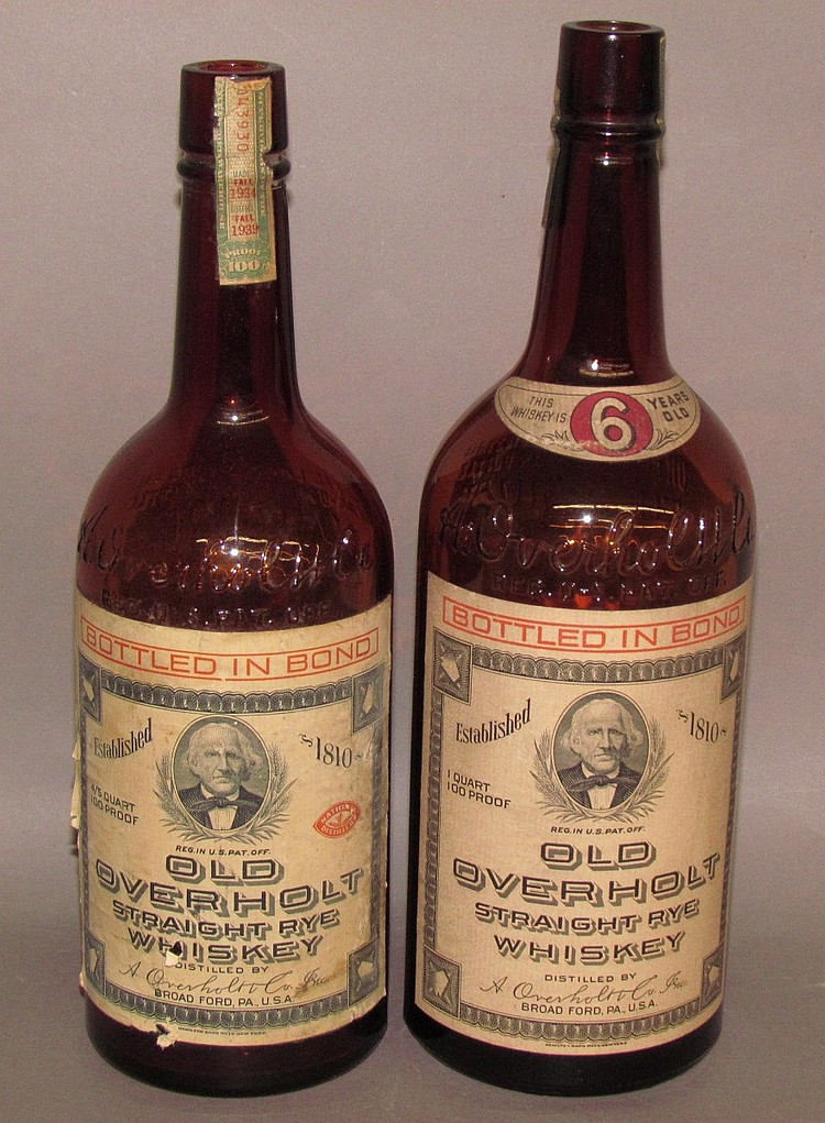 2 whiskey bottles