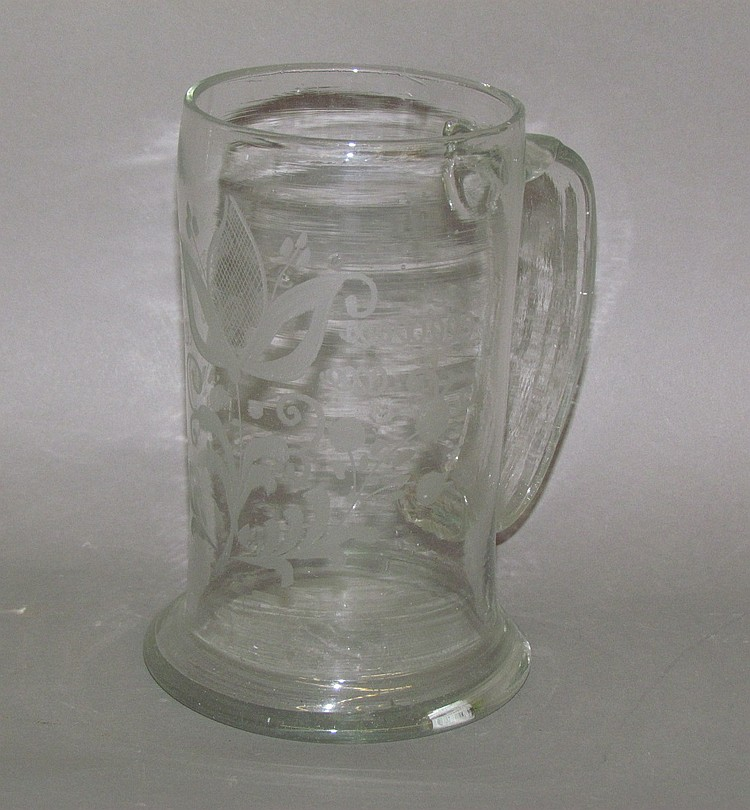 Stiegel-type engraved mug