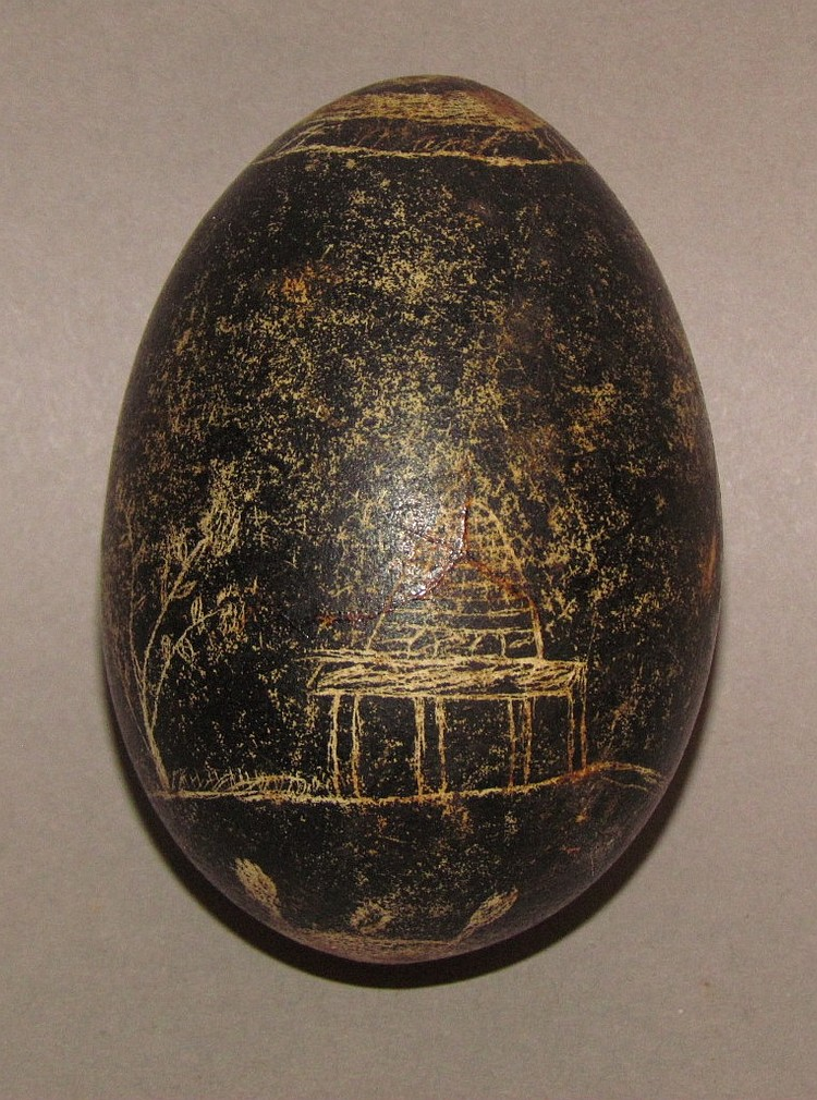 Decorated Easter egg-black dye