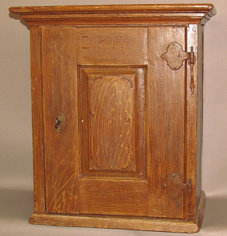 Softwood one door Penna. German wall cupboard