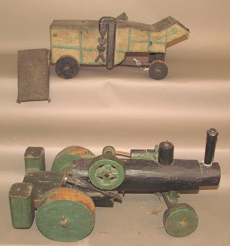 Toy threshing machine
