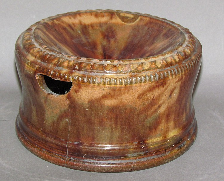 Redware spittoon