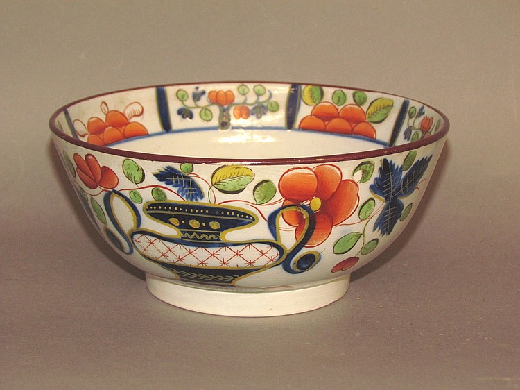 Gaudy Dutch waste bowl