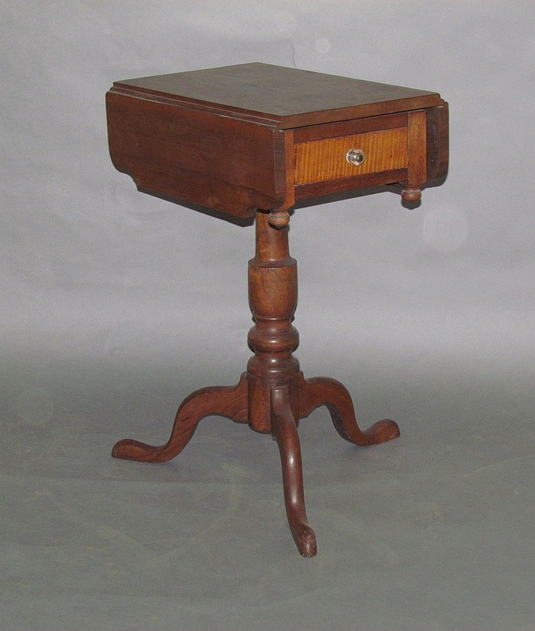 Cherry candle stand on tripod base