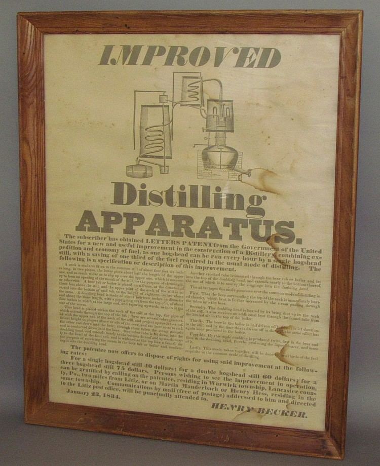 Framed broadside