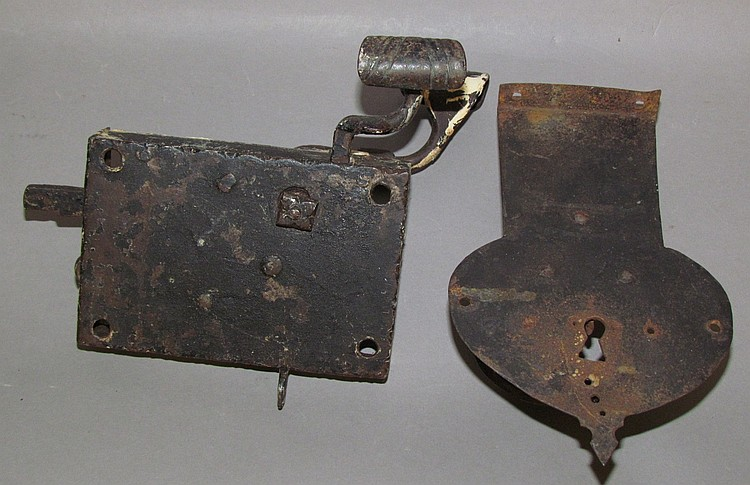 2 wrought iron locks