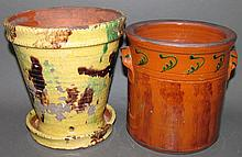 2 pieces of Greg Shooner redware