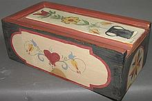 E&W Boyd paint decorated slide lid candle box