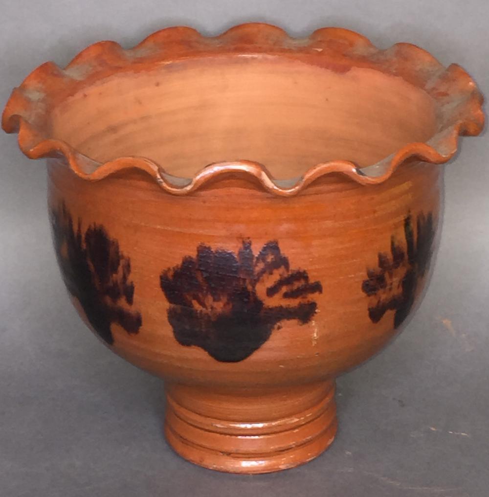 Shooner reproduction redware flower pot