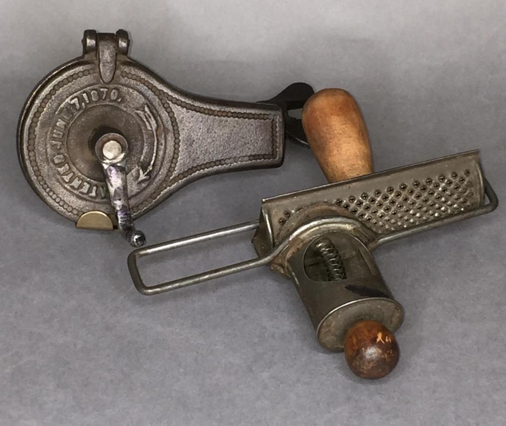 2 patent dated nutmeg graters