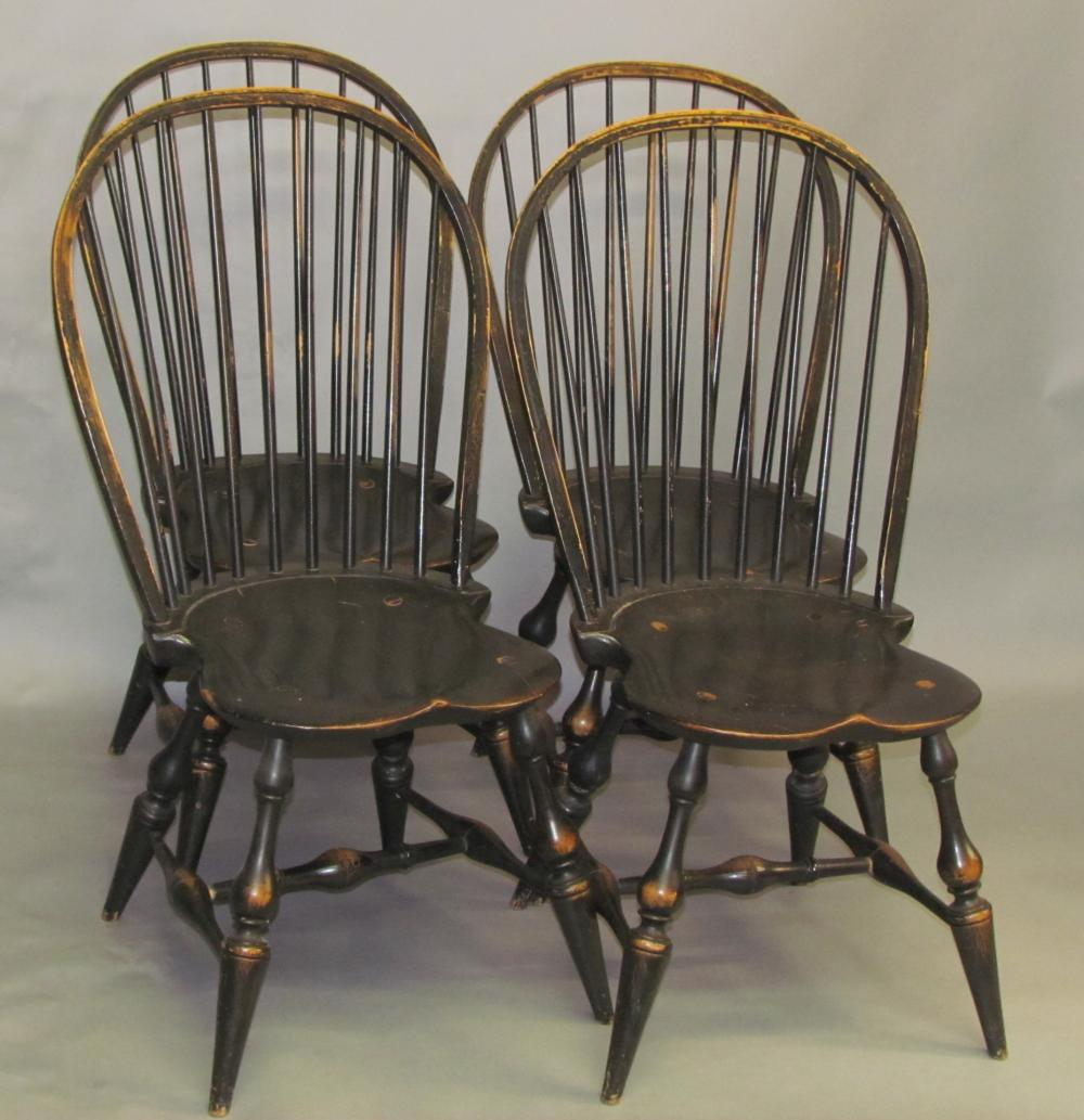Set of 4 low back Windsor side chairs