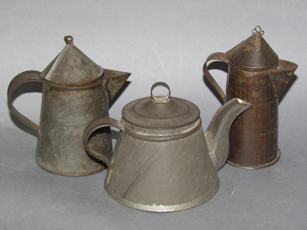 3 pieces of tinware