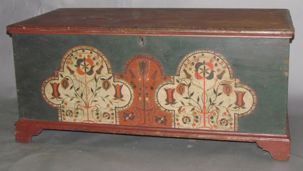 Decorated blanket chest