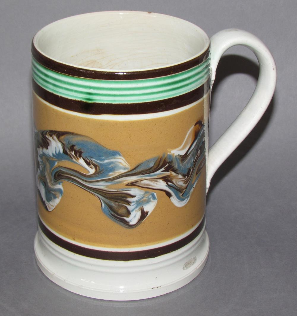 Mocha mug, earthworm motif