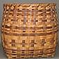 Walnut & oak splint storage basket