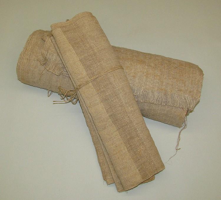 2 rolls of homespun linen