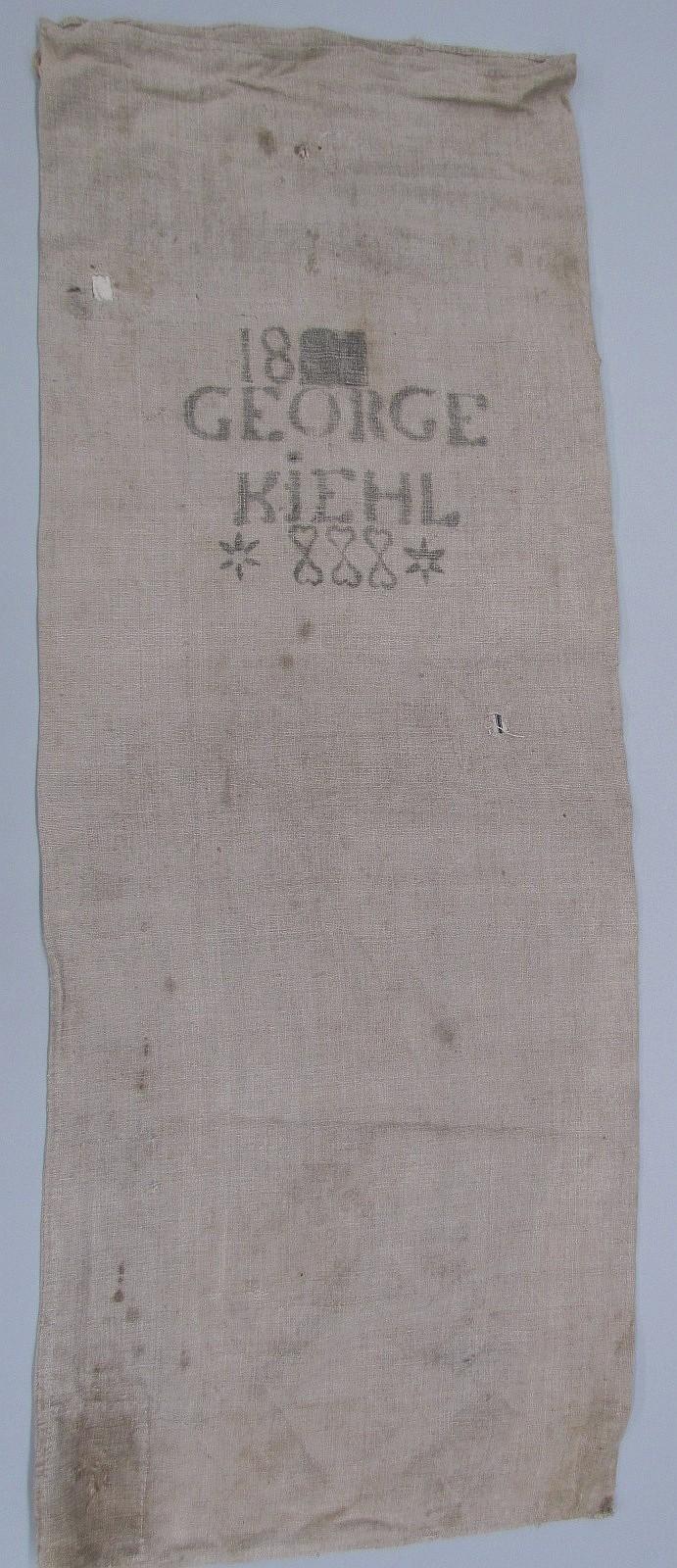 Homespun feed/grain bag of George Kiehl
