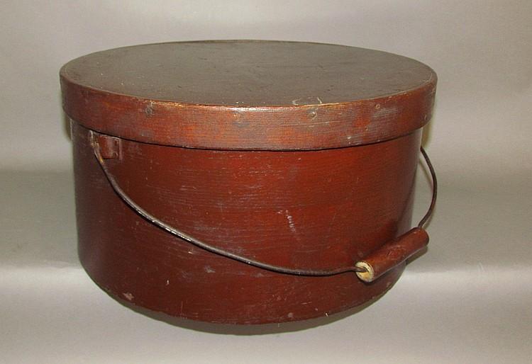 Large oak round cheese box